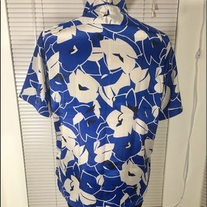 Bowling Shirts - Classic Vintage Floral Bowling Short
